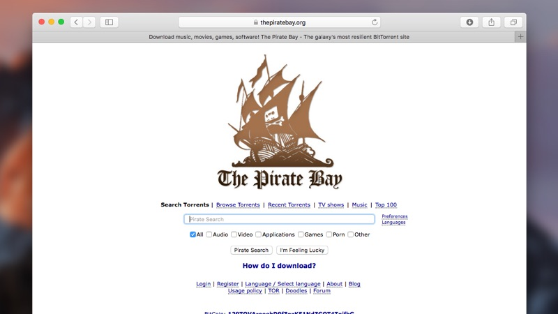 Piratebay Proxy Website