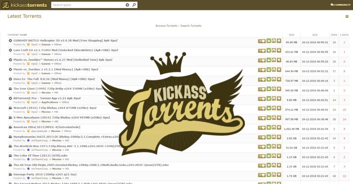 Kickass Torrents Proxy and KAT Mirror Sites List (100% Working)