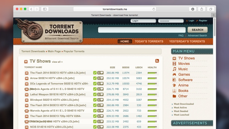 Top torrent resources 2019 for downloading 1080P/720P movies